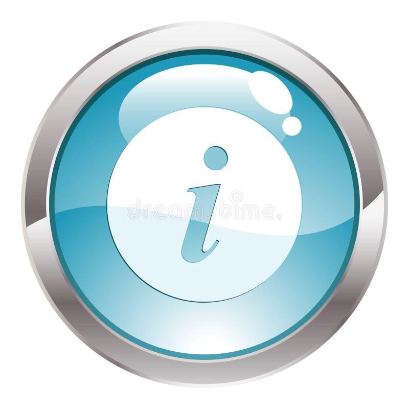 tecken för knappglans info stock illustrationer