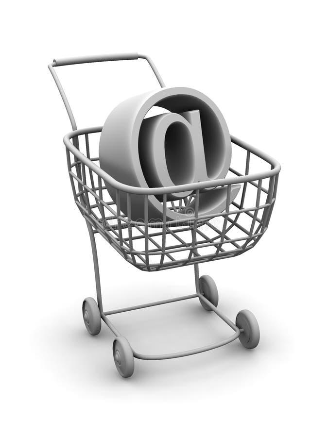tecken för korgkonsumentinternet vektor illustrationer