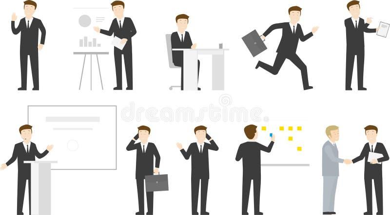 Tecken för liv för kontor för affärsman - uppsättning arkivbilder
