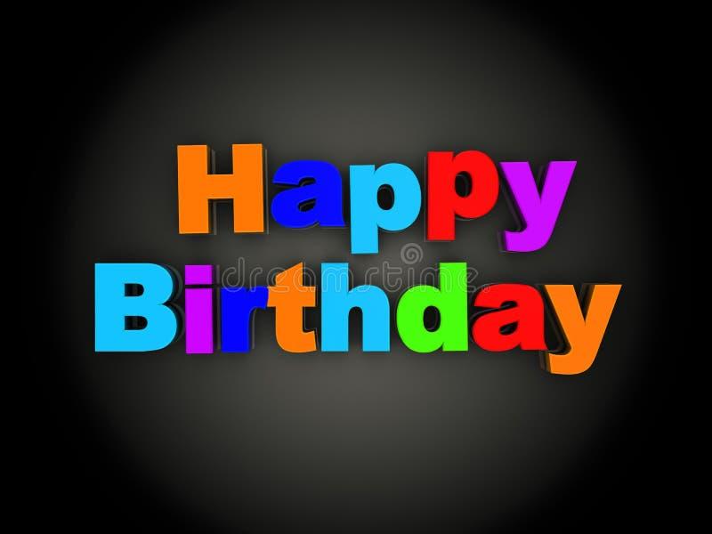 Tecken för lycklig födelsedag vektor illustrationer