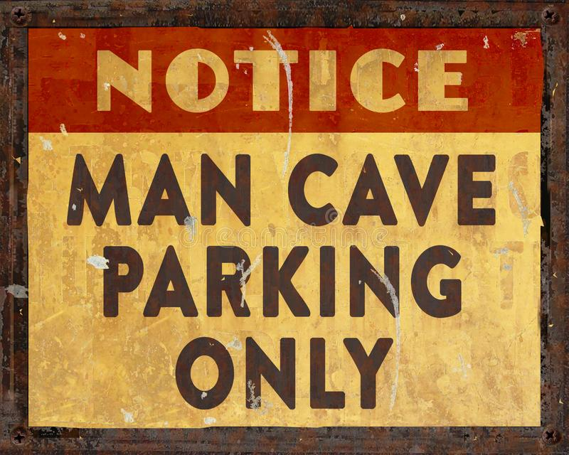 Tecken för mangrottaparkering arkivfoto