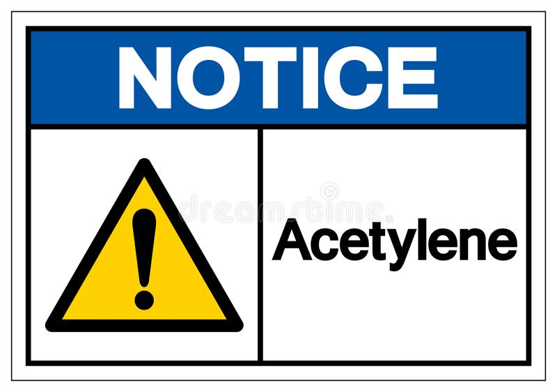Tecken för meddelandeacetylensymbol, vektorillustration, isolat på den vita bakgrundsetiketten EPS10 royaltyfri illustrationer