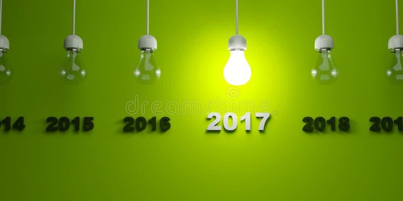Download Tecken För Nytt år 2017 Under Ljusa Kulor Stock Illustrationer - Illustration av säsongsbetonat, exponering: 78728683