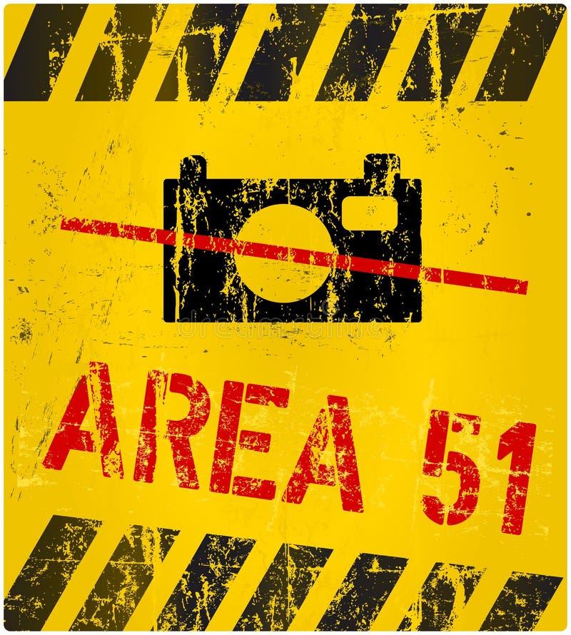Tecken för område 51 royaltyfri illustrationer