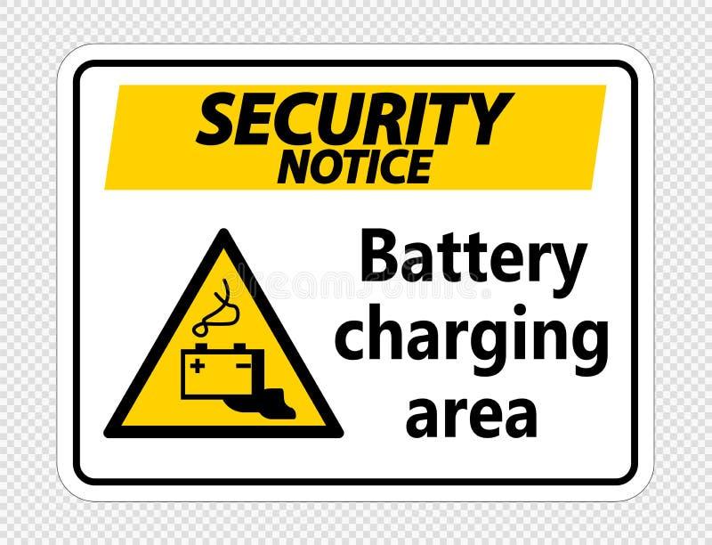 tecken för område för uppladdning för batteri för symbolsäkerhetsmeddelande på genomskinlig bakgrund royaltyfri illustrationer