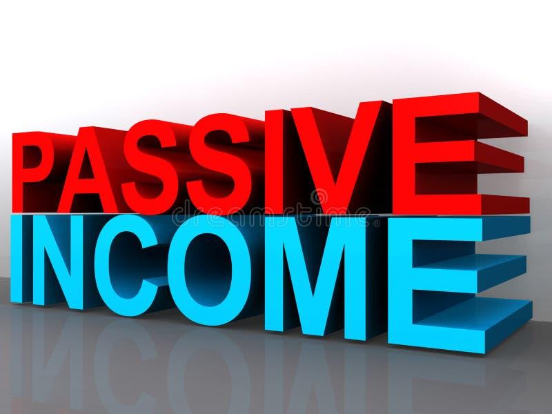 Tecken för passiv inkomst stock illustrationer