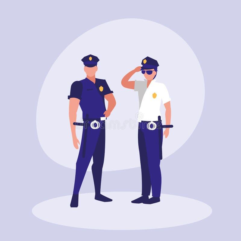 Tecken för polismanavatar royaltyfri illustrationer