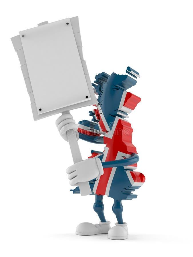 Tecken för protest för UK-teckeninnehav vektor illustrationer