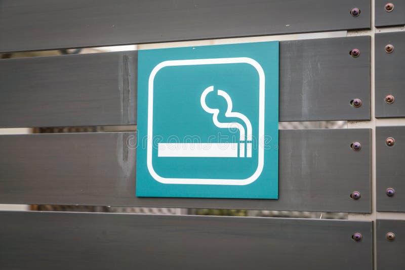 Tecken för rökningsområde royaltyfria bilder