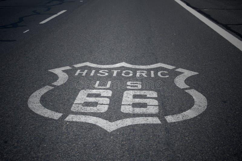 tecken för 66 route royaltyfria foton