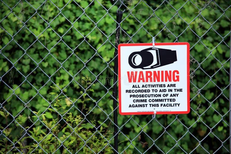 Tecken för säkerhetssystem royaltyfria foton