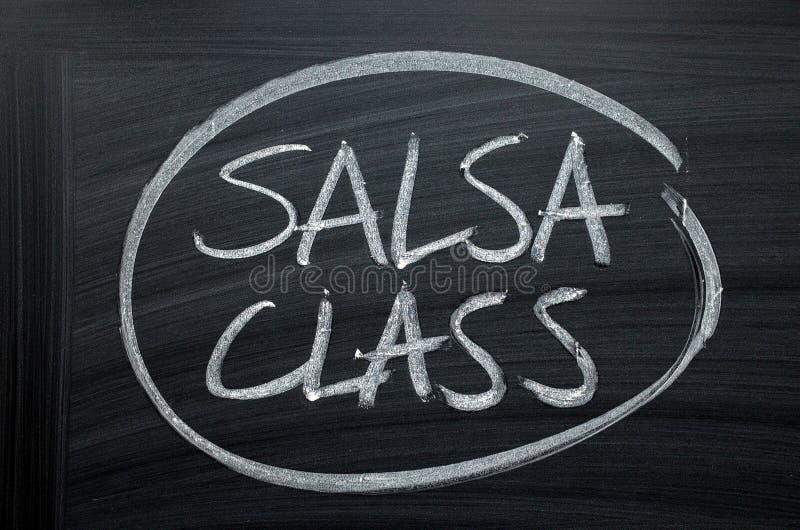 Tecken för salsagruppsvart tavla royaltyfri fotografi