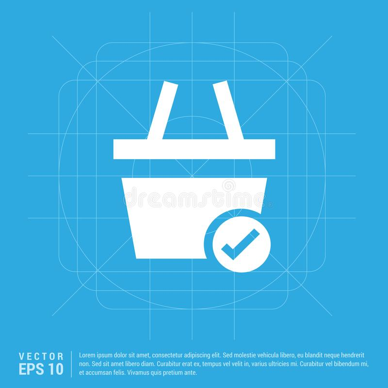Tecken för shoppingvagn och fästing royaltyfri illustrationer