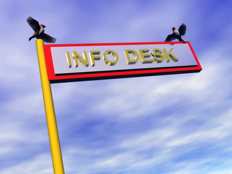 tecken för skrivbord info royaltyfri illustrationer