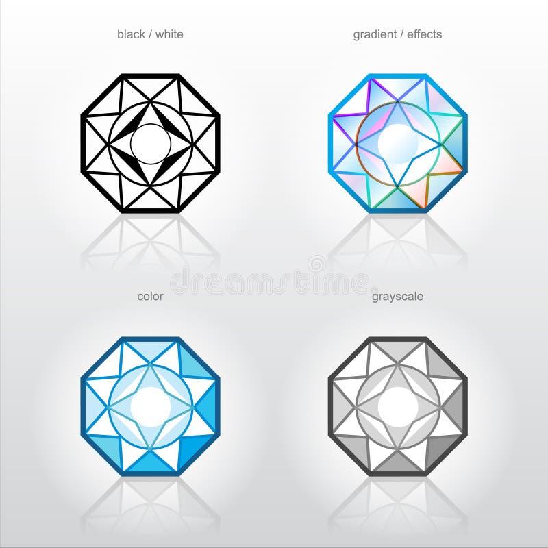 tecken för smycken för företagsidentitetsindustri vektor illustrationer