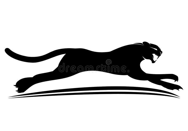 Tecken för svart panter vektor illustrationer