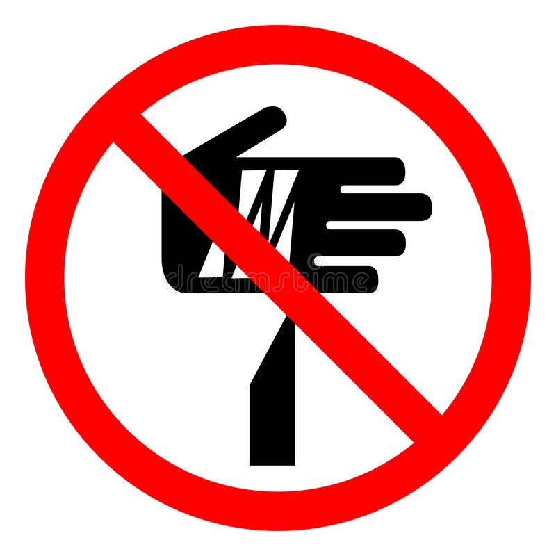 Tecken för symbol för punkt för skadafara skarpt, vektorillustration, isolat på den vita bakgrundsetiketten EPS10 vektor illustrationer