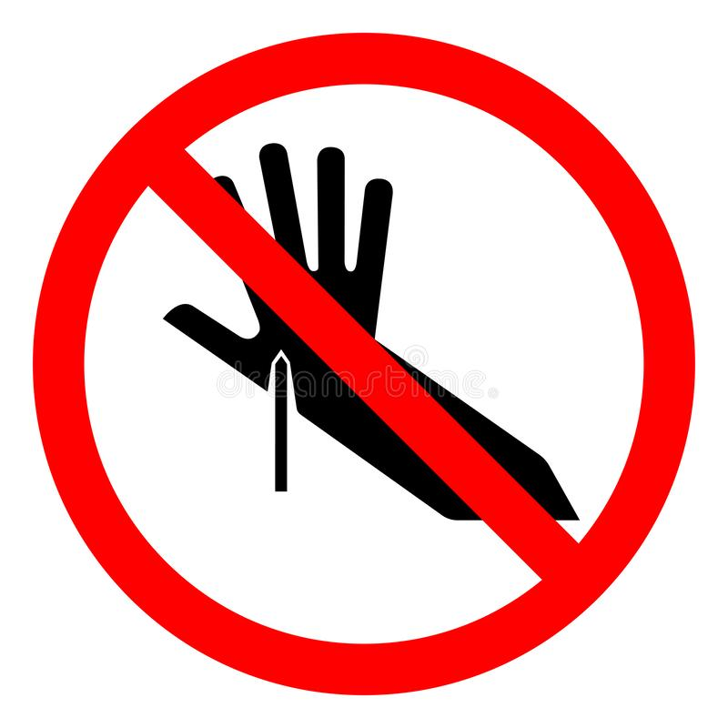 Tecken för symbol för punkt för skadafara skarpt, vektorillustration, isolat på den vita bakgrundsetiketten EPS10 stock illustrationer