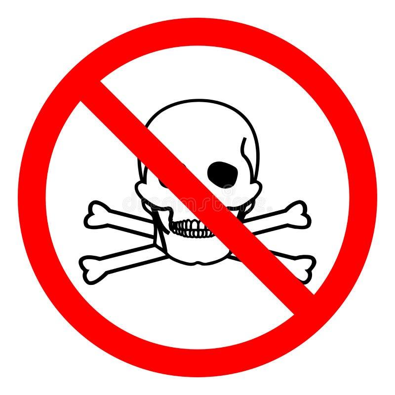 Tecken för symbol för skadafara giftligt materiellt, vektorillustration, isolat på den vita bakgrundsetiketten EPS10 stock illustrationer