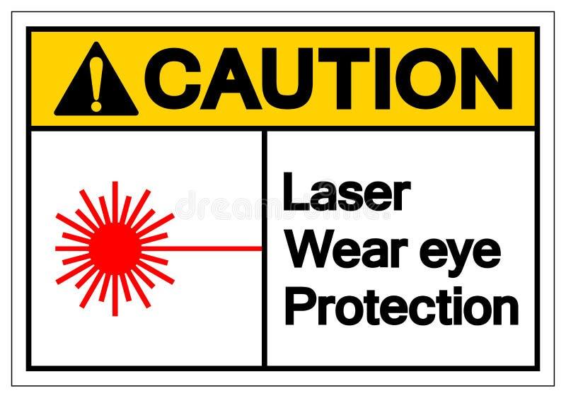 Tecken för symbol för skydd för öga för varningslaser-kläder, vektorillustration, isolat på den vita bakgrundsetiketten EPS10 royaltyfri illustrationer