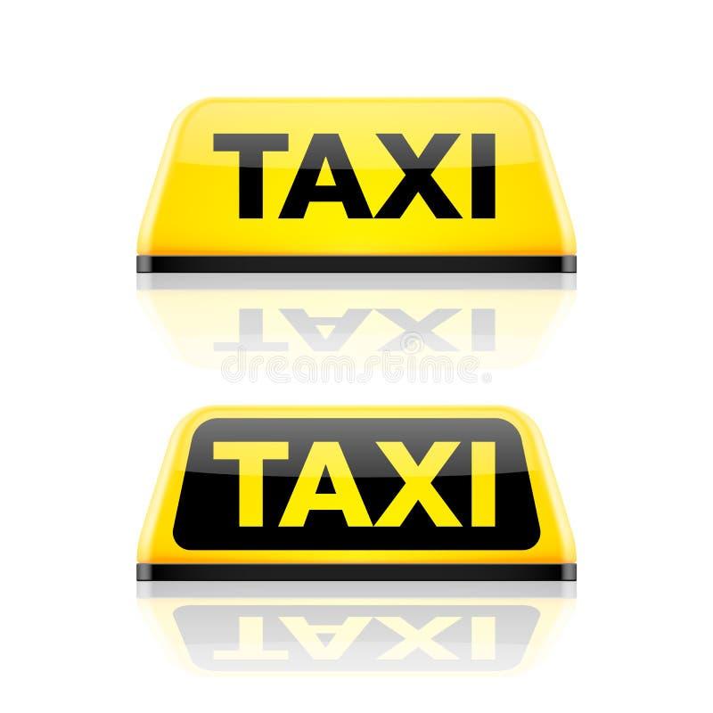Tecken för taxibiltak stock illustrationer