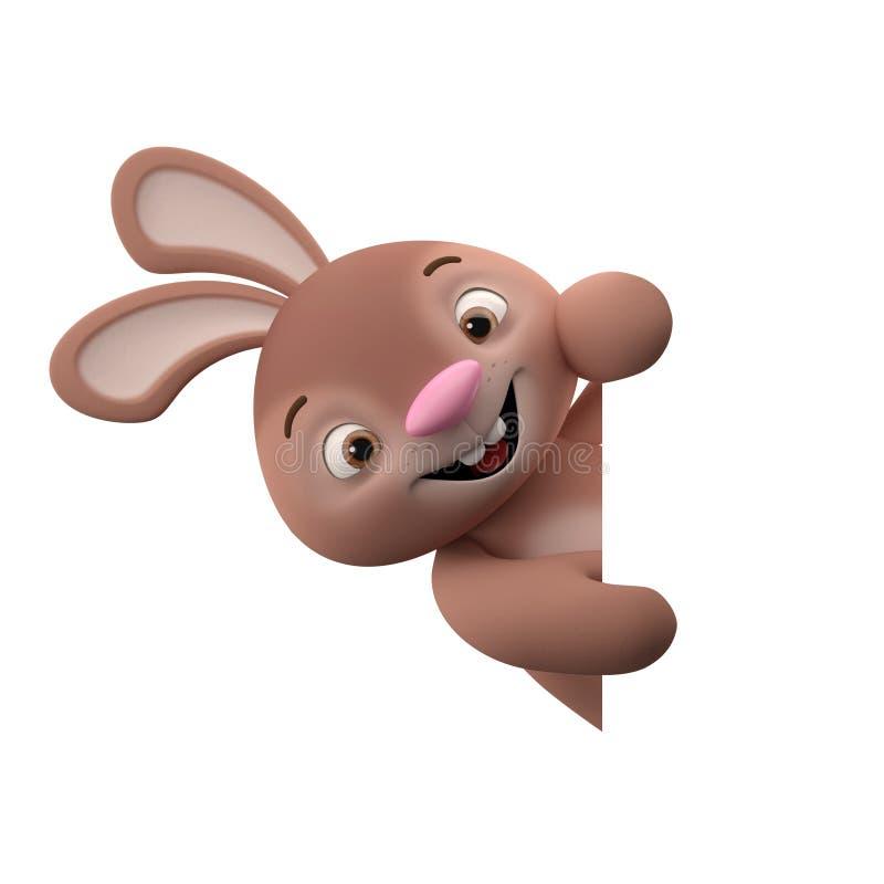 tecken för tecknad film 3D, easter kanin stock illustrationer