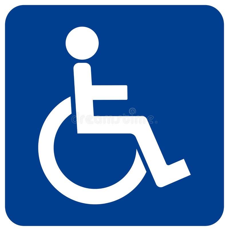 Tecken för toaletthandikappade personersymbol, vektorillustration, isolat på den vita bakgrundsetiketten EPS10 stock illustrationer