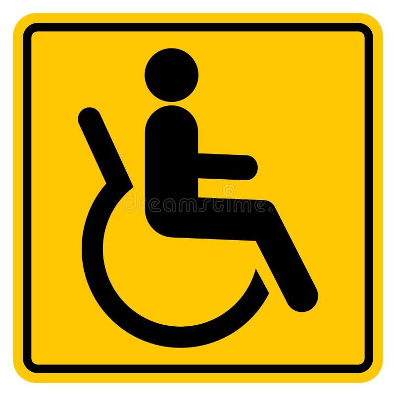 Tecken för toaletthandikappade personersymbol, vektorillustration, isolat på den vita bakgrundsetiketten EPS10 royaltyfri illustrationer
