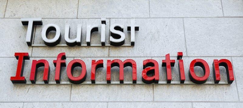 Tecken för turist- information royaltyfria foton