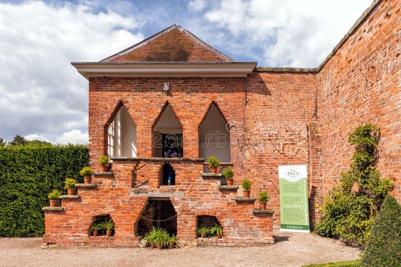Tecken för utställning för Birmingham akvarellsamhälle, Hanbury Hall royaltyfria bilder