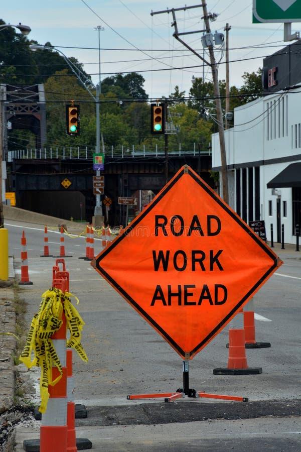 Tecken för vägarbete royaltyfri bild
