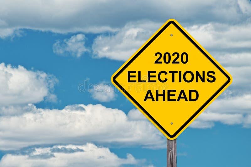 Tecken för 2020 val framåt arkivfoton