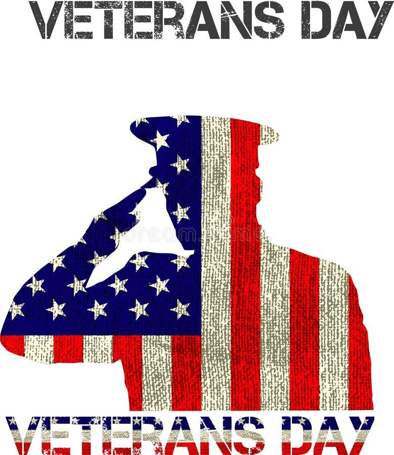 Tecken för veterandag stock illustrationer