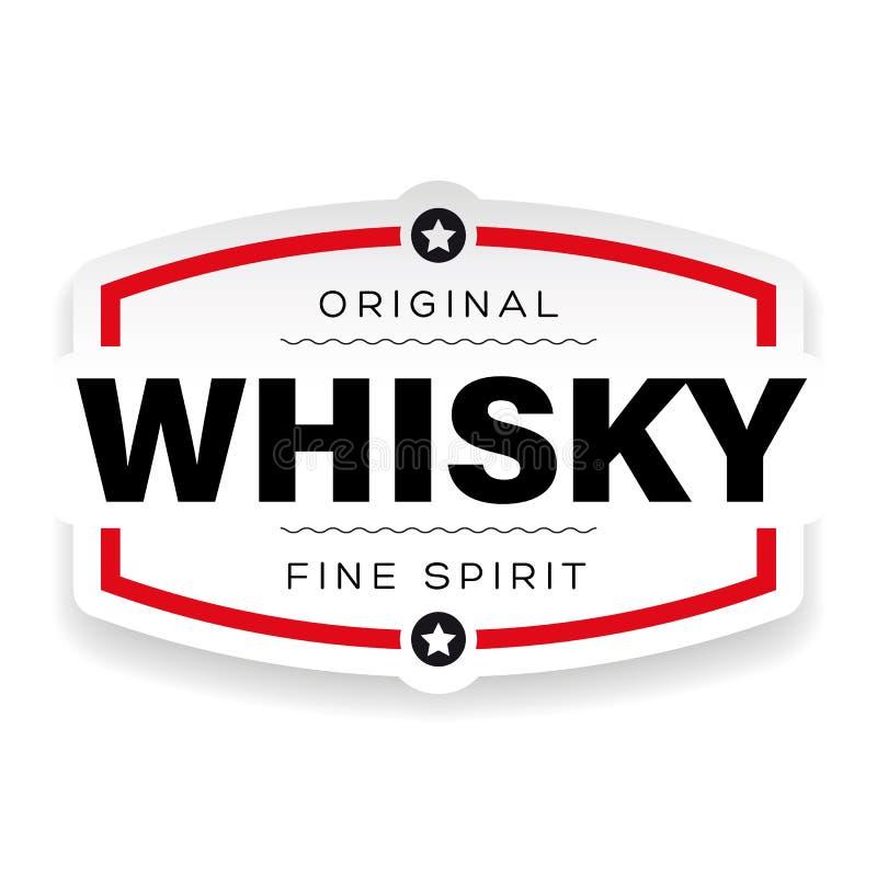Tecken för whiskytappningetikett stock illustrationer
