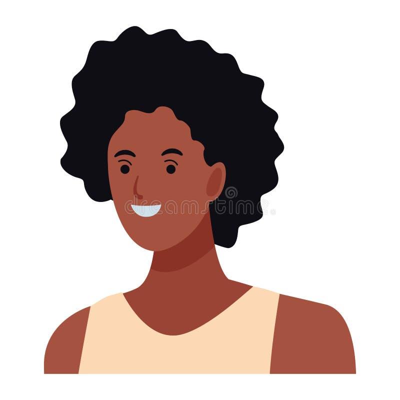 Tecken f?r kvinnaavatartecknad film royaltyfri illustrationer