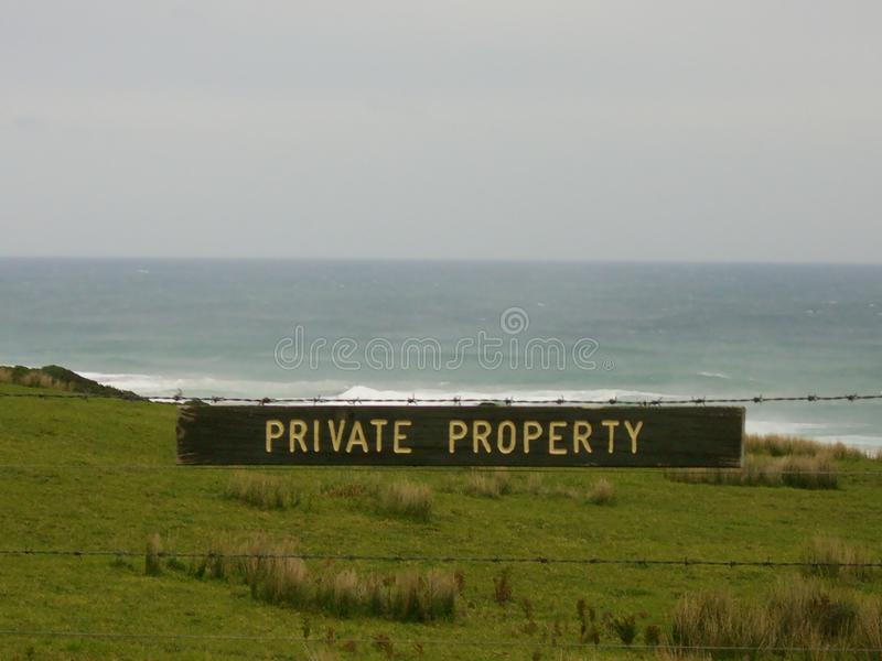 Tecken f?r privat egenskap royaltyfri bild