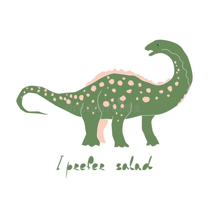 Tecken f?r vektor f?r gullig dinosaurief?rghand utdraget vektor illustrationer