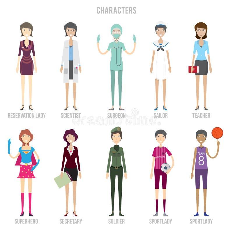 Tecken - fastställd design royaltyfri illustrationer
