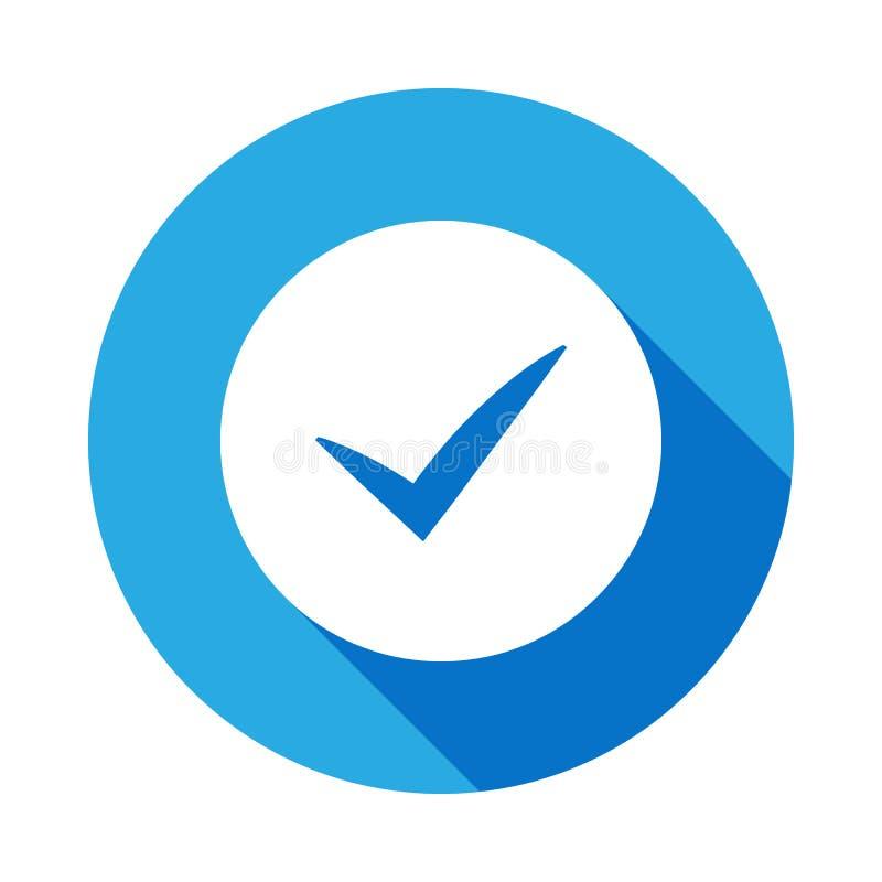 tecken kontrollerad symbol med lång skugga Beståndsdel av logistiksymbolen Högvärdig kvalitets- symbol för grafisk design tecken  royaltyfri illustrationer