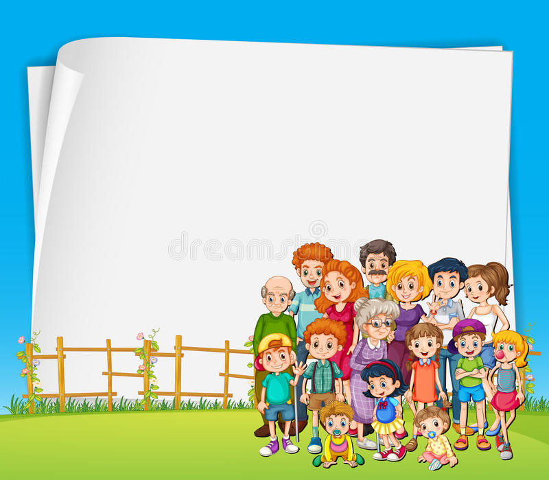 Tecken och familj stock illustrationer