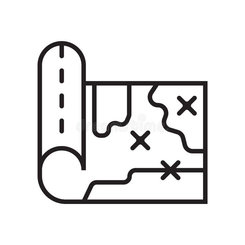 Tecken och symbol för översiktssymbolsvektor som isoleras på vit bakgrund, översiktslogobegrepp vektor illustrationer