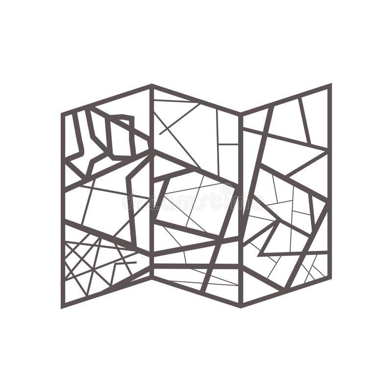 Tecken och symbol för översiktssymbolsvektor som isoleras på vit bakgrund, översiktslogobegrepp stock illustrationer