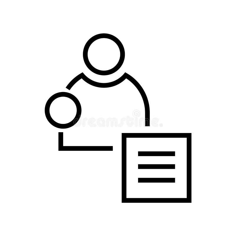 Tecken och symbol för affärsmansymbolsvektor som isoleras på vit bakgrund, affärsmanlogobegrepp vektor illustrationer