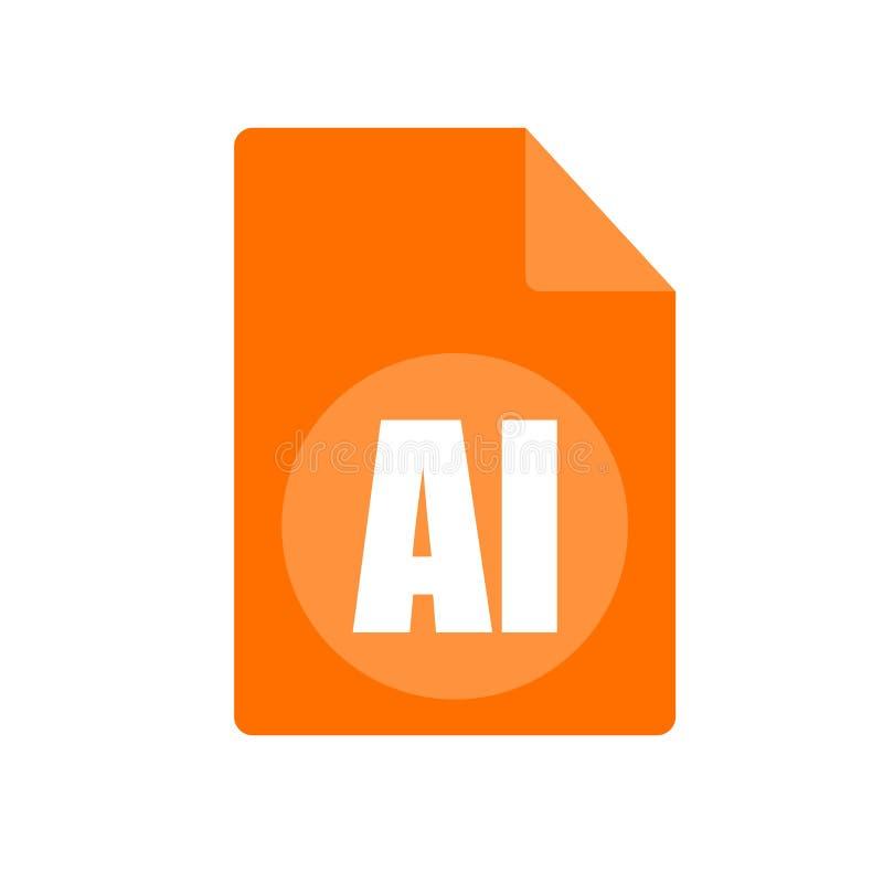 Tecken och symbol för AI-symbolsvektor som isoleras på vit bakgrund, AI-logobegrepp royaltyfri illustrationer