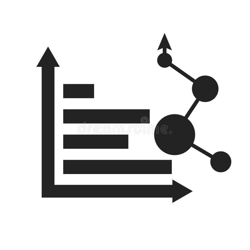Tecken och symbol för Analyticssymbolsvektor som isoleras på vit bakgrund, Analyticslogobegrepp vektor illustrationer
