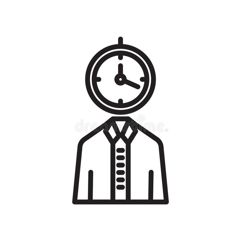 Tecken och symbol för användaresymbolsvektor som isoleras på vit bakgrund, användarelogobegrepp vektor illustrationer
