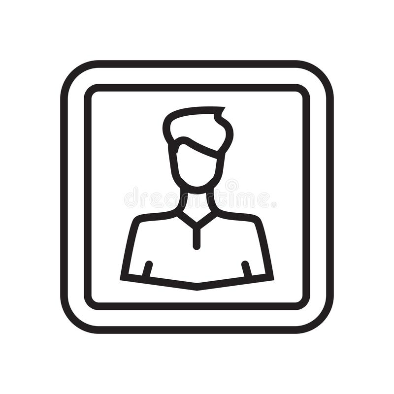 Tecken och symbol för användaresymbolsvektor som isoleras på vit bakgrund, U royaltyfri illustrationer