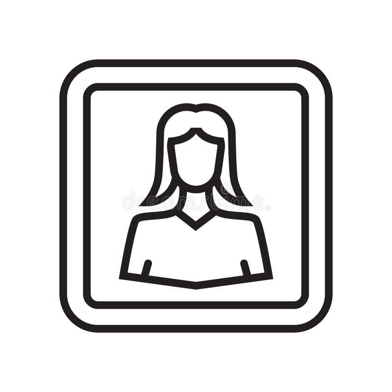 Tecken och symbol för användaresymbolsvektor som isoleras på vit bakgrund, U vektor illustrationer