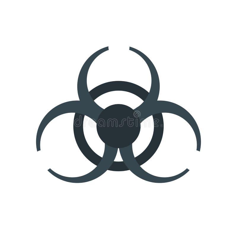 Tecken och symbol för Biohazardsymbolsvektor som isoleras på vit bakgrund, Biohazardlogobegrepp royaltyfri illustrationer