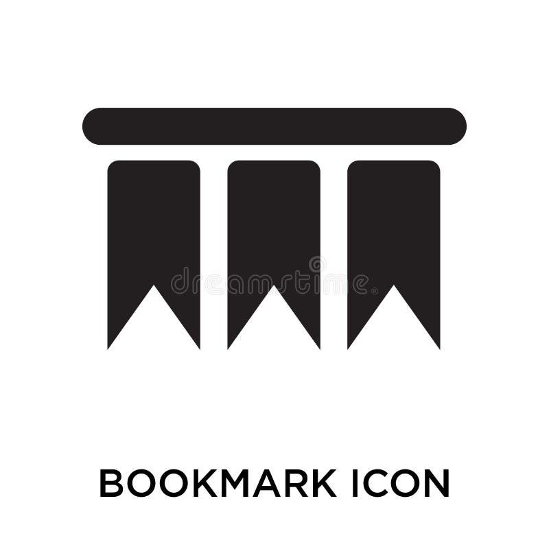 Tecken och symbol för bokmärkesymbolsvektor som isoleras på vit backgroun royaltyfri illustrationer